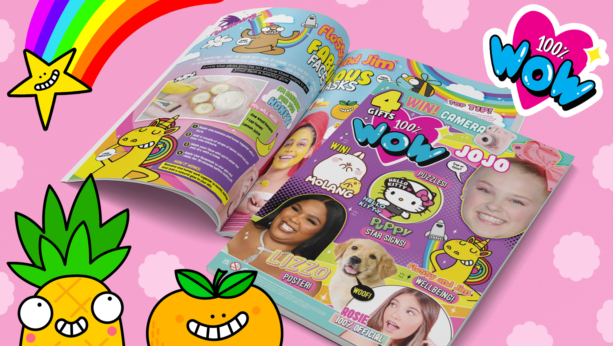 Flossy and Jim features in 100% Wow magazine from Kennedy Publishing