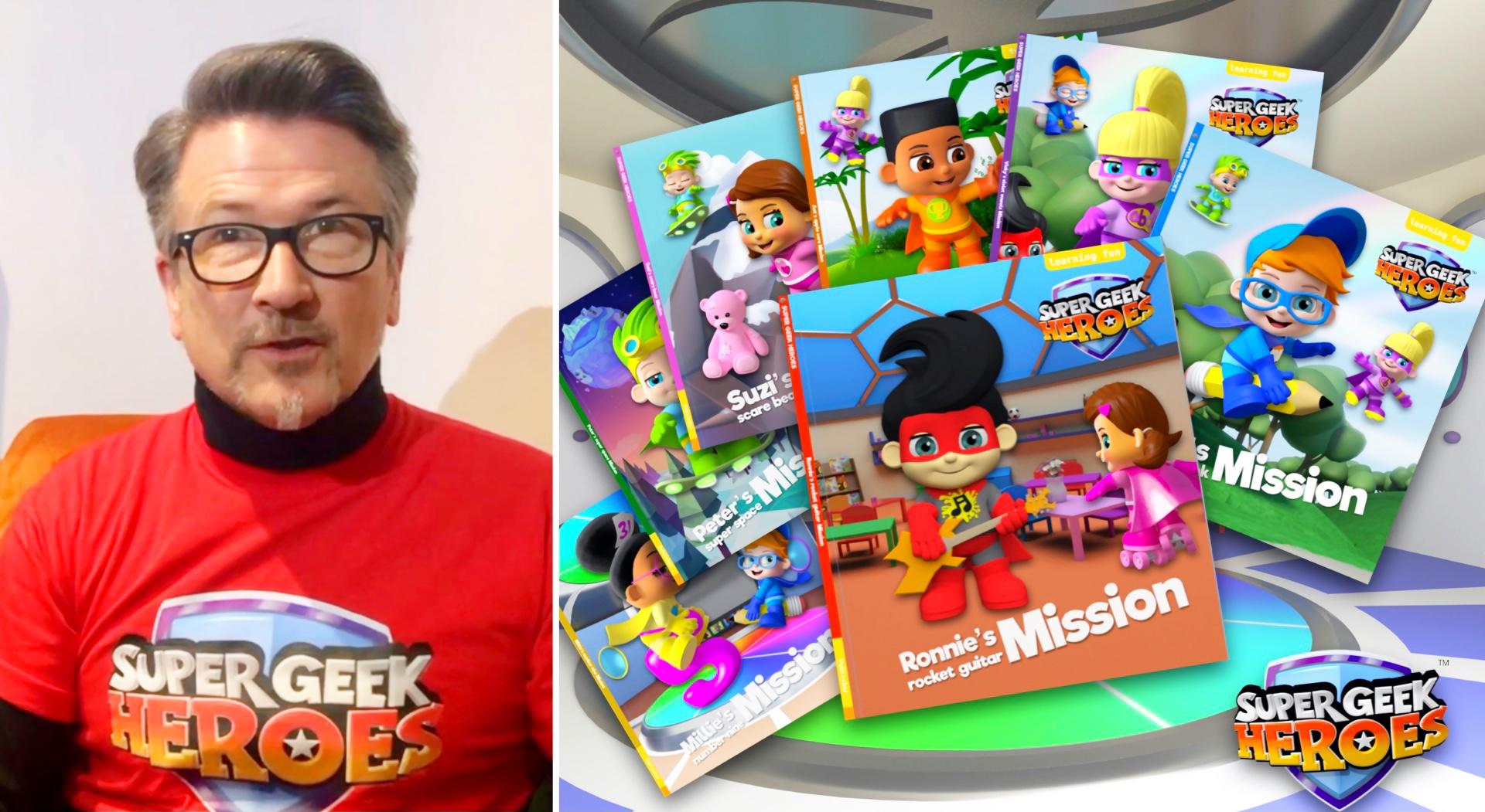 Super Geek Heroes 'Read Alouds' from David Lawrence Jones